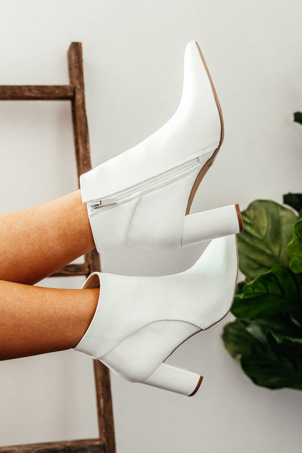 Meier White Bootie - Shop Amour Boutique Online