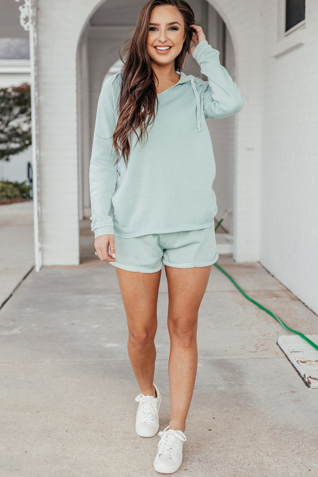 Malibu Mint Burnout Hoodie - Shop Amour Boutique Online