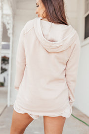 Pale Pink Burnout Hoodie - Shop Amour Boutique Online