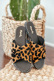 Kazen Leopard Slide - Shop Amour Boutique Online