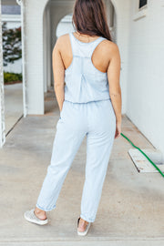 Chambray Jumpsuit - Shop Amour Boutique Online