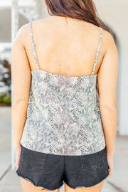 Lacey Little Snake Print Cami - Shop Amour Boutique Online