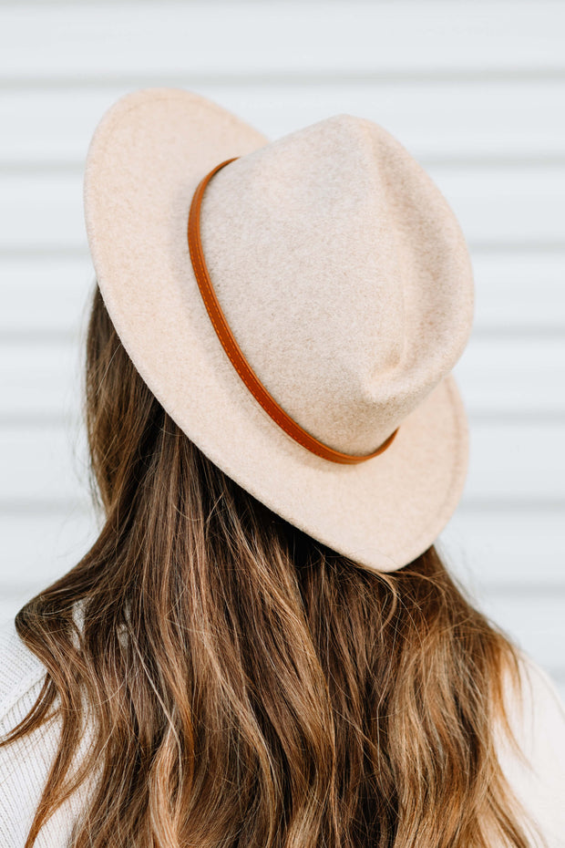 Brown Belt Panama Hat: Beige - Shop Amour Boutique Online