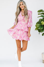 Love for Layers Pink Floral Dress - Shop Amour Boutique Online