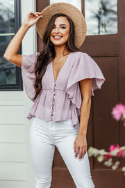 Who's a Flirt Top: Lilac - Shop Amour Boutique Online