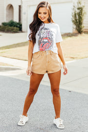 Rock & Roll Kiss Tee: White - Shop Amour Boutique Online