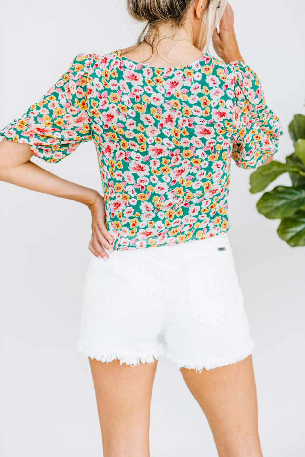 Pickin' Wild Flowers Top - Shop Amour Boutique Online