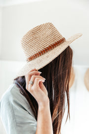 Panama hat: Faux Leather Band Accent - Shop Amour Boutique Online