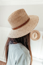 Panama hat: Faux Leather Band Accent