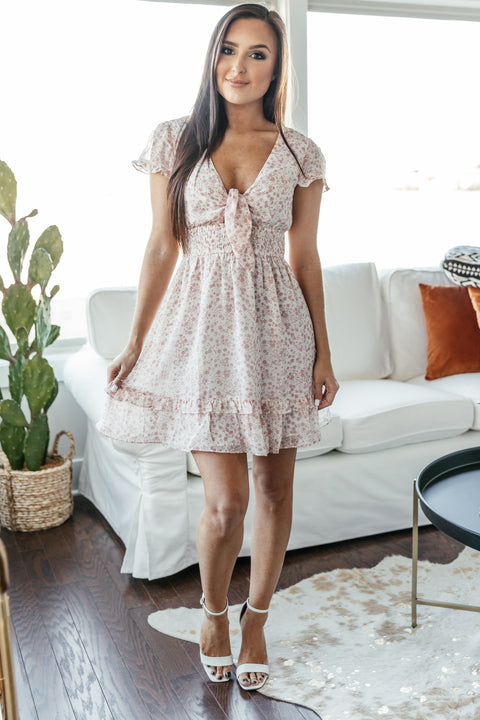 Pretty in Pink Floral Dress