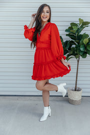 Red Hot Dress - Shop Amour Boutique Online