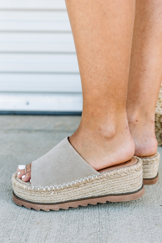 Eva Espadrille Platform Slide - Shop Amour Boutique Online
