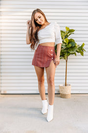 Back in Brick Skort - Shop Amour Boutique Online