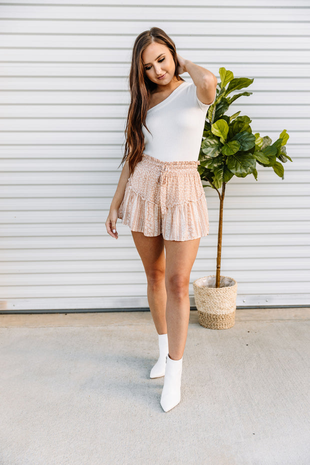 Ditzy Daisy Knit Shorts - Shop Amour Boutique Online
