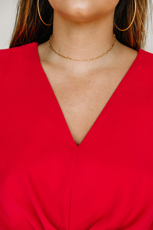Oval Linked Chain Necklace - Shop Amour Boutique Online
