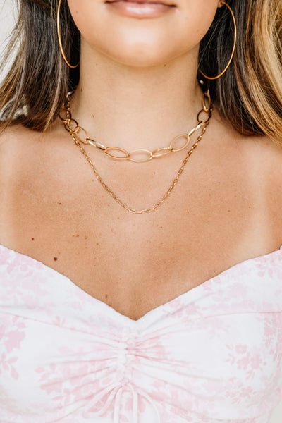 2 Layer Oversize Chain Necklace - Shop Amour Boutique Online