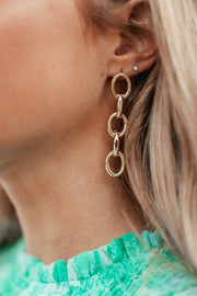 5 Oval Link Earrings - Shop Amour Boutique Online