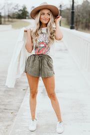 Olive You Shorts - Shop Amour Boutique Online