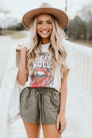 Rock & Roll Kiss Tee - Shop Amour Boutique Online