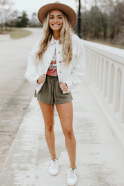 White Denim Jacket - Shop Amour Boutique Online