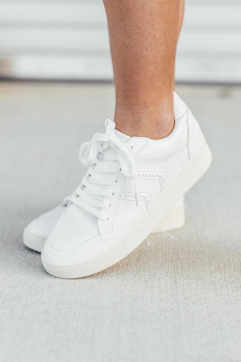 White Stitch Sneaker - Shop Amour Boutique Online