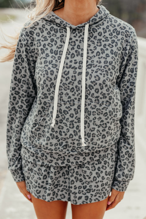 Lounging Around Leopard Hoodie - Shop Amour Boutique Online