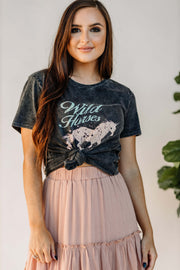 Wild Horses Vintage Graphic Tee - Shop Amour Boutique Online