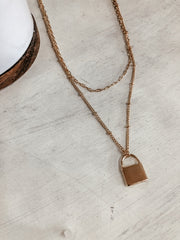 Lock Layer Necklace - Shop Amour Boutique Online