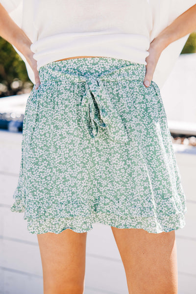 Girly Girl Floral Skort
