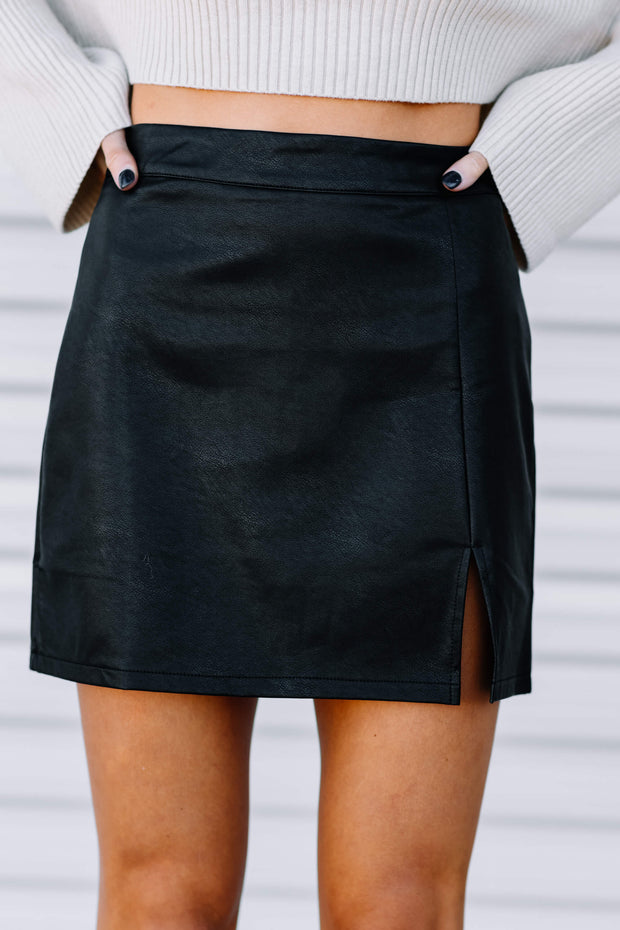 Classy Little Faux Leather Skirt