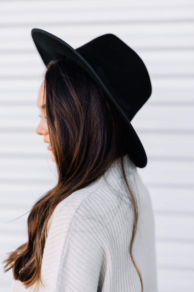 Looking Good Wool Felt Hat: Black