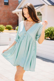 Mint to Be Babydoll Dress