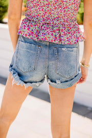Darling Denim Distressed Shorts