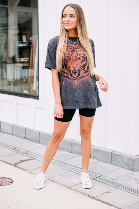 Tiger Bleached Graphic Tee