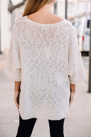 Good for Everyday Sweater: Ivory