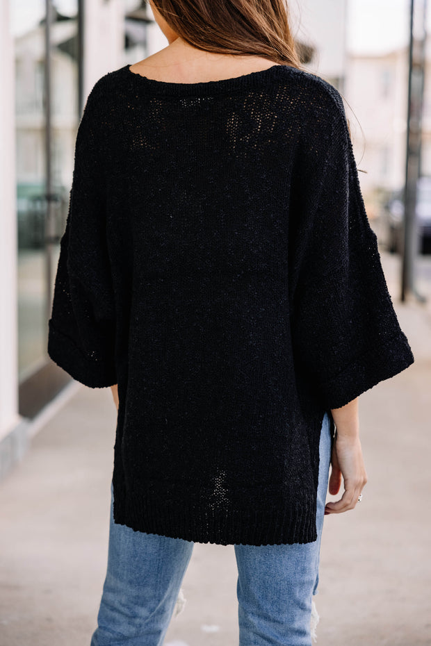 Good for Everyday Sweater: Black