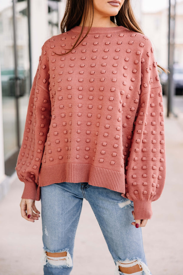 Off We Go Textured Sweater