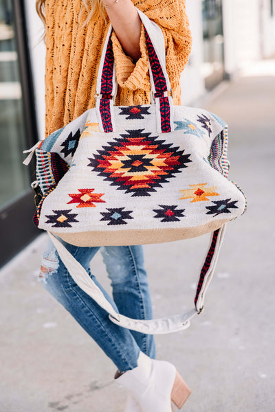 Aztec Printed Overnight Bag