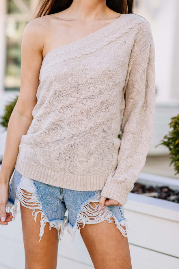 On Your Side One Shoulder Sweater