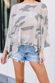 Feeling the Camo Knit Sweater