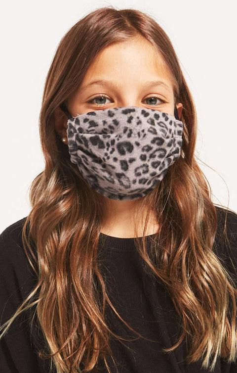 Kids Z Supply Grey Leopard Reuseable Face Mask (2 Pack) - Shop Amour Boutique Online