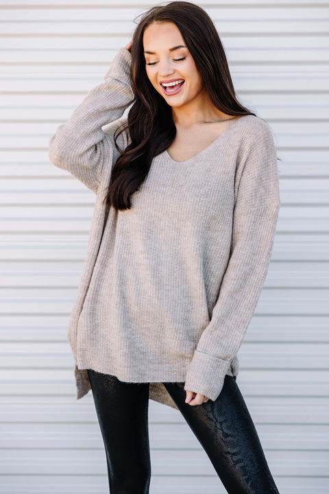 So Cozy Ribbed Loose Sweater