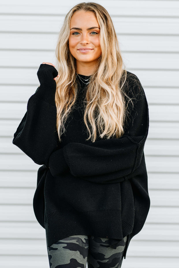 Everywhere You Go Sweater: Black - Shop Amour Boutique Online
