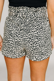 Paper Bag Leopard Shorts - Shop Amour Boutique Online