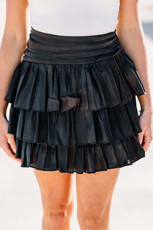 Ready to Ruffle Skirt: Black