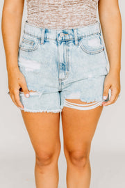 High Rise Destroy Mom Shorts - Shop Amour Boutique Online