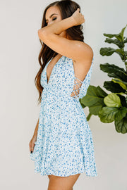 Little Blue Floral Dress - Shop Amour Boutique Online
