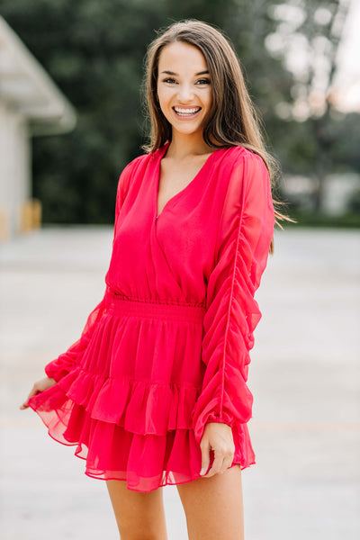 Too Hot to Handle Bright Pink Dress - Shop Amour Boutique Online