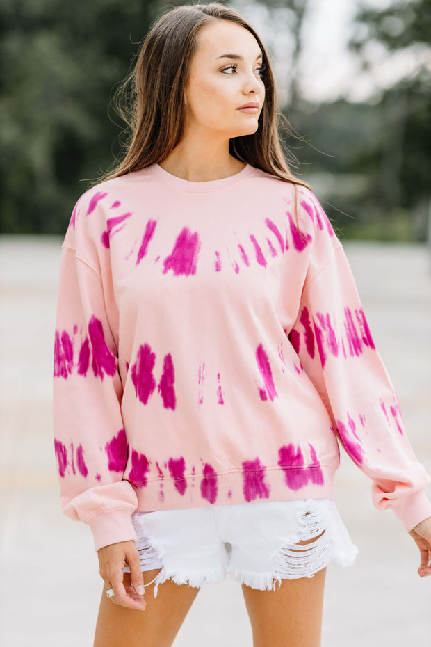 Perfect Pink Tie Dye Sweatshirt - Shop Amour Boutique Online