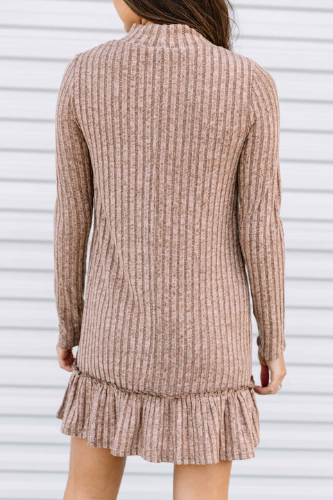 I Love You so Mocha Knit Dress
